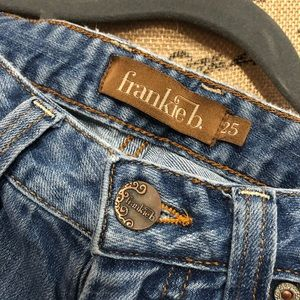 Frankie B Super Low Rise Distressed Jeans Size 25